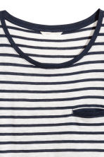 Striped jersey top - White/Black striped - Ladies | H&M CN 3